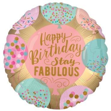 Balão Foil  Happy Birthday Pastel