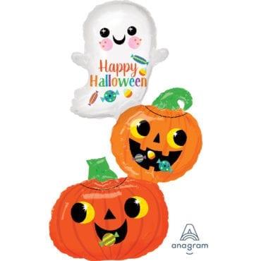 Balão Foil SuperShape Halloween - Fantasma & Abóboras
