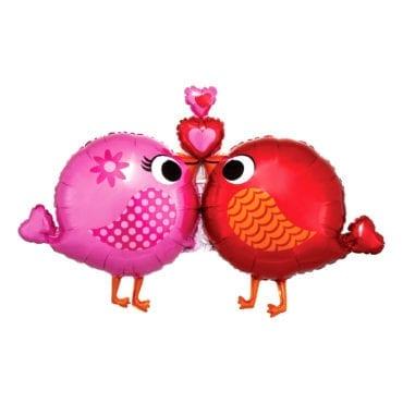 Balão Foil SuperShape Love Passarinhos