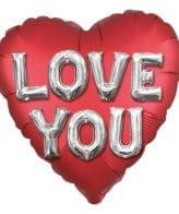Balão Foil  Mate Love You 3D