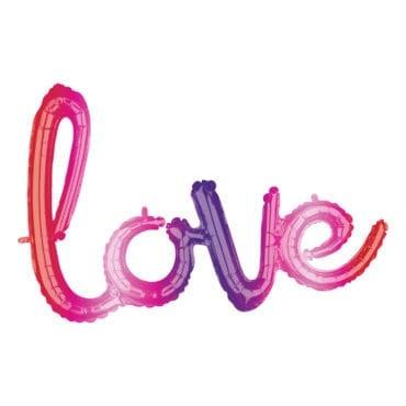 """Balão Foil SuperShape Ombre frase """"Love"""""""