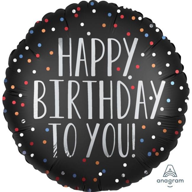 Balão Foil  Mate Happy Birthday To You
