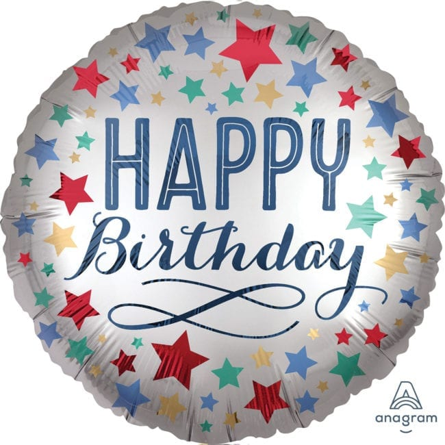 Balão Foil  Mate Happy Birthday Estrelas