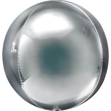 Balão Foil Orbz 53cm  Prateado