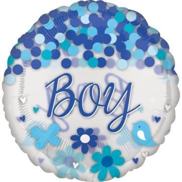Balão Foil SuperShape Confetti Baby Boy