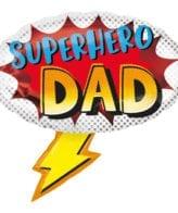 """Balão Foil SuperShape """"Superhero Dad"""""""