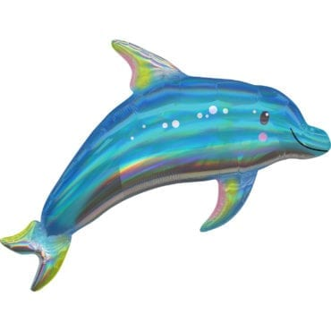Balão Foil SuperShape Golfinho Iridescente
