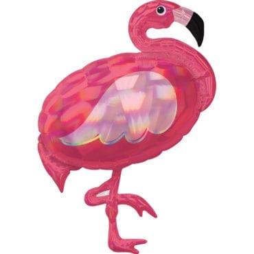 Balão Foil SuperShape  Flamingo Iridescente