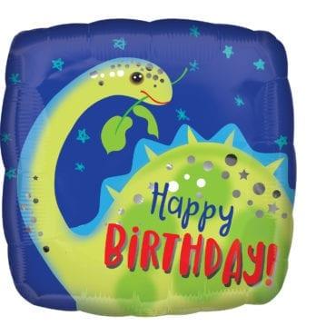 Balão Foil  Happy Birthday Dinossauro