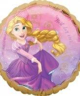 Balão Foil  Happy Birthday Princesas Disney - Rapunzel