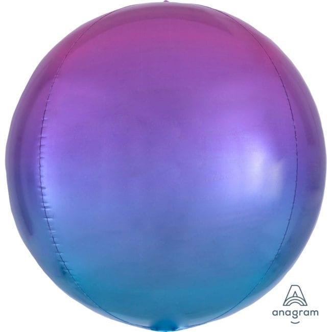 Balão Foil Orbz Ombre Vermelho & Azul