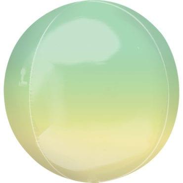 Balão Foil Orbz Ombre Amarelo & Verde
