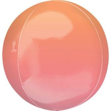 Balão Foil Orbz Ombre Vermelho & Laranja