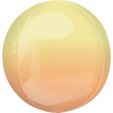 Balão Foil Orbz Ombre Amarelo & Laranja
