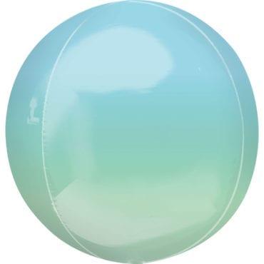 Balão Foil Orbz Ombre Azul & Verde