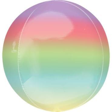 Balão Foil Orbz Ombre Arco-Íris