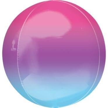 Balão Foil Orbz Ombre Roxo & Azul