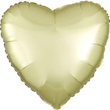 Balão Foil  Mate Coração Amarelo Pastel