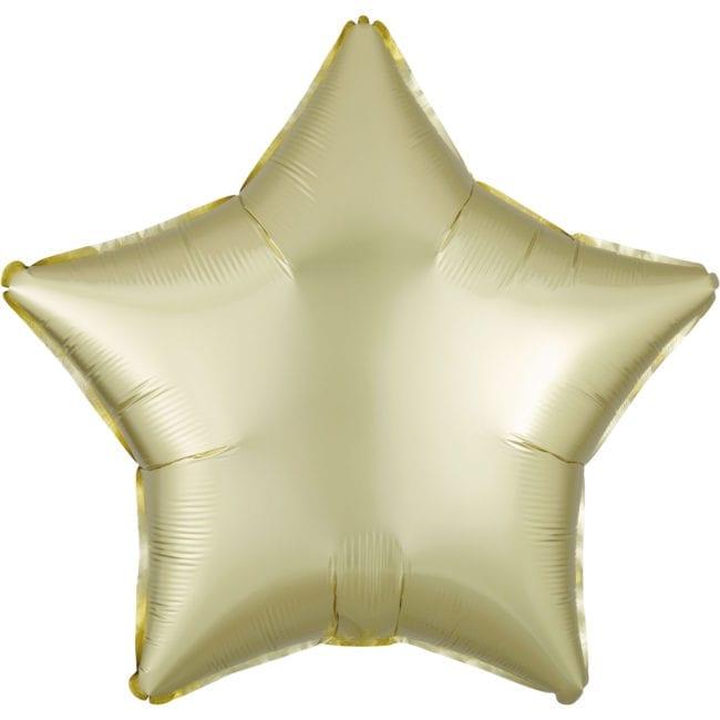 Balão Foil  Mate Estrela Amarelo Pastel