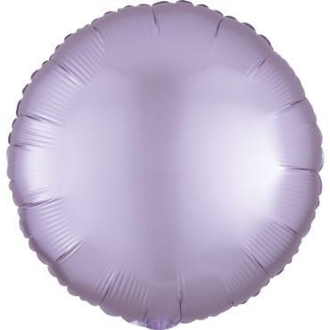 Balão Foil  Mate Redondo Lilás Pastel