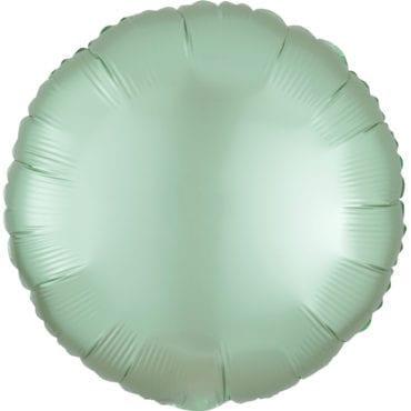 Balão Foil  Mate Redondo Verde Menta