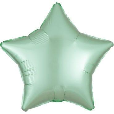 Balão Foil  Mate Estrela Verde Menta