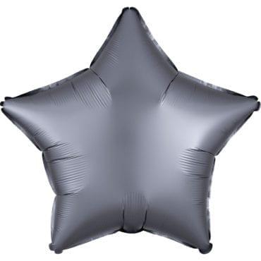Balão Foil  Mate Estrela Cinzento