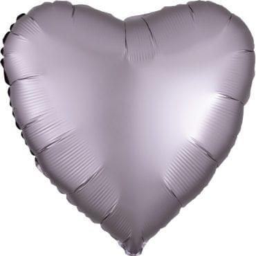 Balão Foil  Mate Coração Cinzento