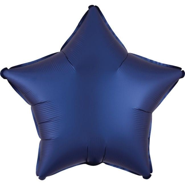 Balão Foil  Mate Estrela Azul Escuro