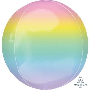 Balão Foil Orbz  Ombre Pastel