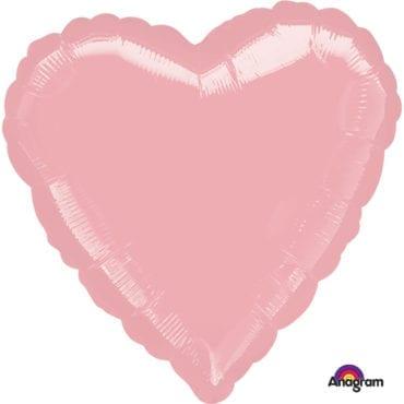 Balão Foil  Coração Rosa Claro