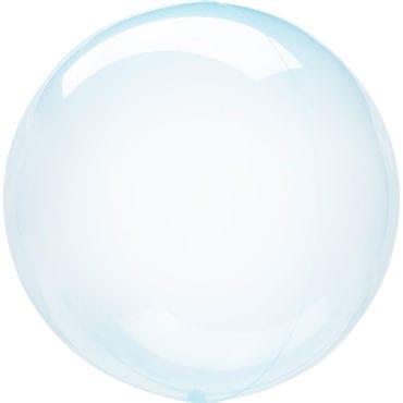 Balão Foil  Cristal Transparente Azul (Bubble)
