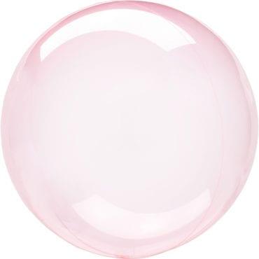 Balão Foil  Cristal Transparente Rosa Choque (Bubble)