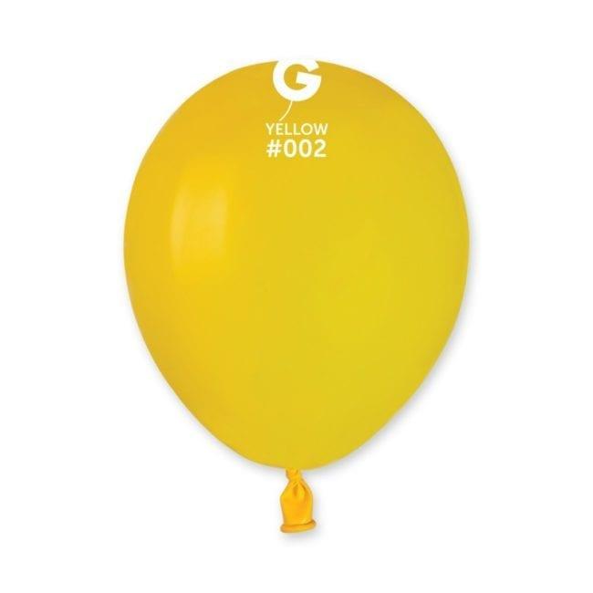 Balões latex 5'' cor Yellow # 2 - A5