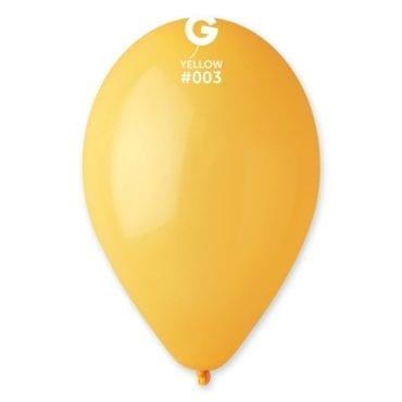 Balões latex 12'' cor Yellow # 3 - G1