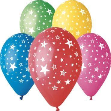 Balões Estrelas Fogo Artifício