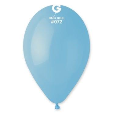 Balões latex 12'' cor Baby Blue #72 - G1