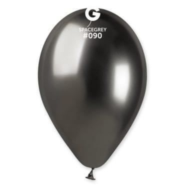 Balões latex 13'' cor Shiny Space Grey #9 - GB1