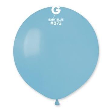 Balões latex 19'' cor Baby Blue #72 - G15