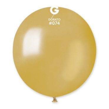 Balões latex Metalizado 19'' cor Dorato #74 - GM15