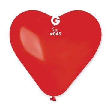 Balões latex Coração 17'' cor Red #45 - CR17