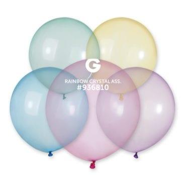Balões latex 19'' cor Sortido Rainbow Crystal - G15