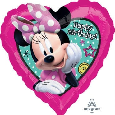 Balão Foil  Happy Birthday Minnie Happy Helpers