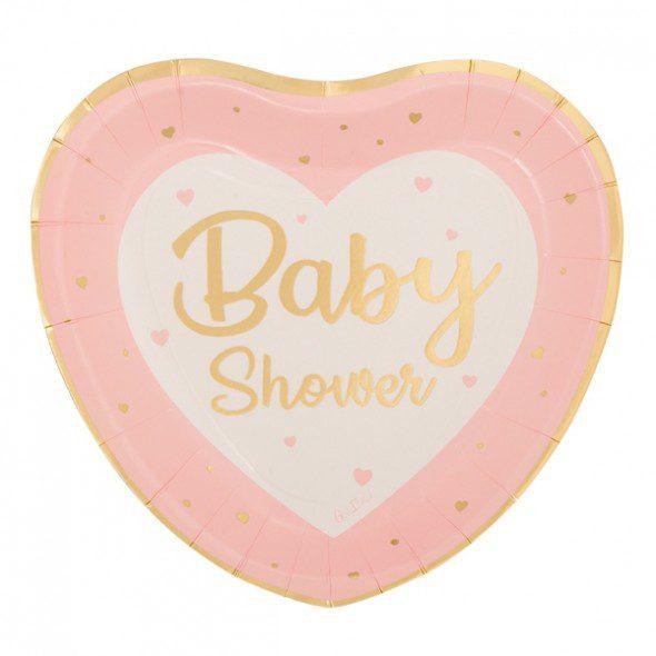 Prato Baby Shower Coração
