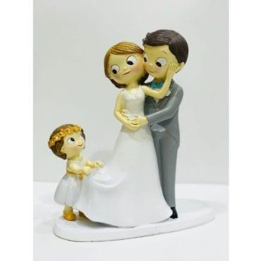 Topo de Bolo Noivos com Menina