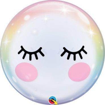 Balão Qualatex Bubble Pestanas 22″