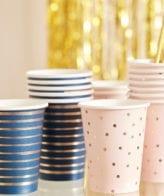 Copos Chá de Revelação Mistos Rosa e Azul Marinho