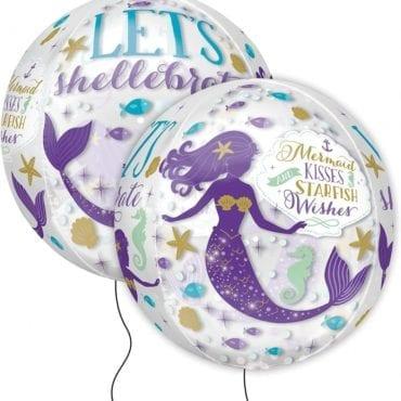 Balão Foil Orbz Sereia