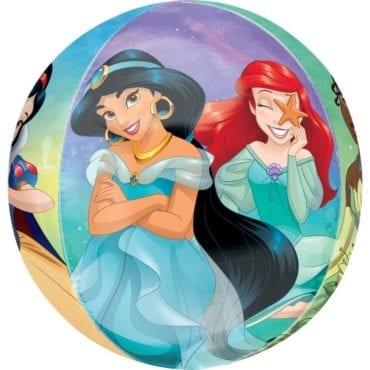 Balão Foil Orbz Princesas Disney