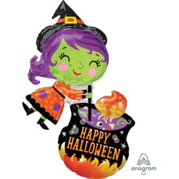 Balão Foil SuperShape Bruxa Halloween